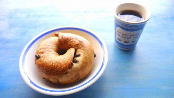 コーヒー豆屋のベーグル(コーベー)とコーヒー