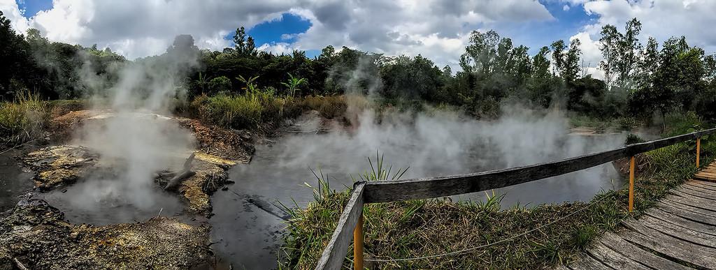 サンタテレサ農園から湧き出る温泉水