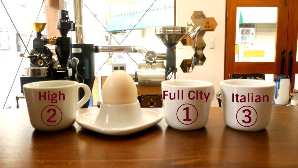 コーヒー フードペアリング with ゆでたまご