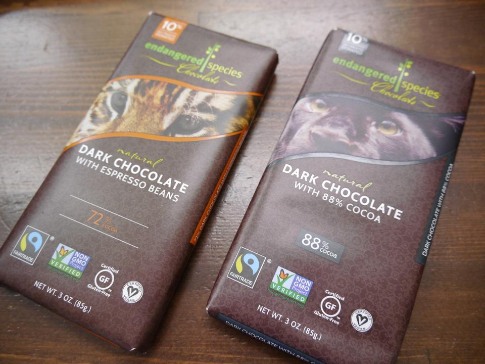フェアトレードチョコ 2種あります