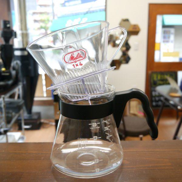 メリタのコーヒーフィルターはHARIOのサーバには置けません