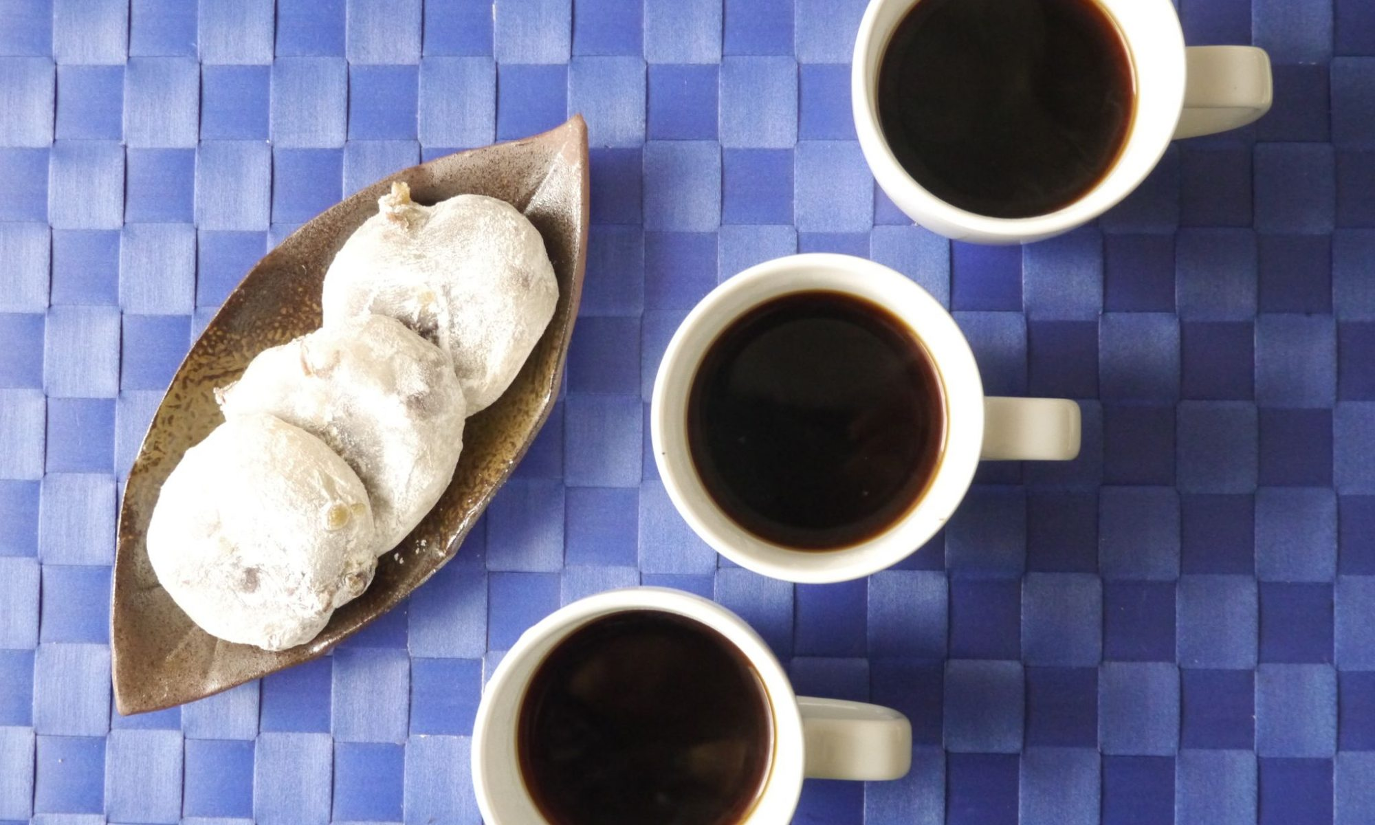 豆大福とコーヒー