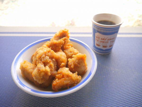 鶏唐とコーヒー