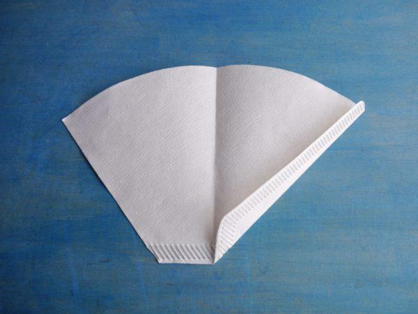 円錐形ドリッパーで台形ペーパーフィルターを使う方法 3