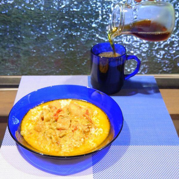 ブラジルのシチュー「ムケッカ」とコーヒー豆 「ダテーラサンライズ」