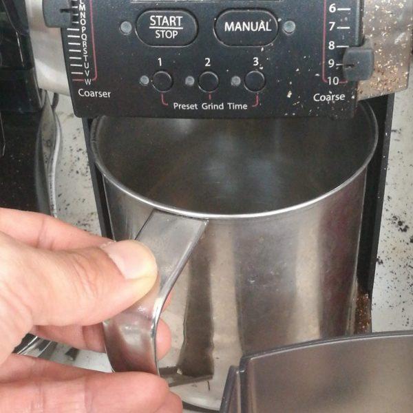 コーヒーミルの静電気対策