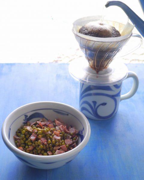 緑豆 - ベーコン豆