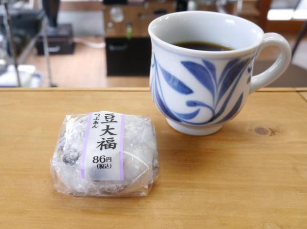 LAWSON 豆大福とコーヒー