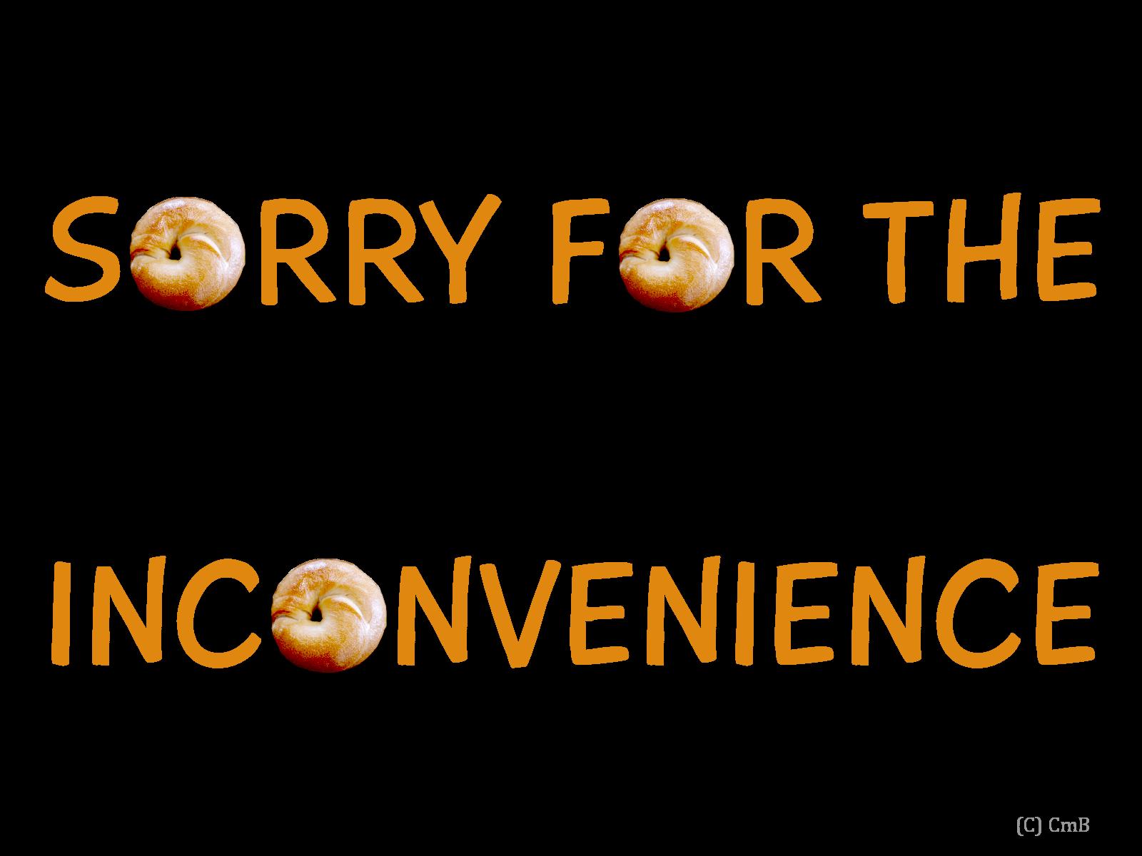ご不便をおかけし申し訳ございません
