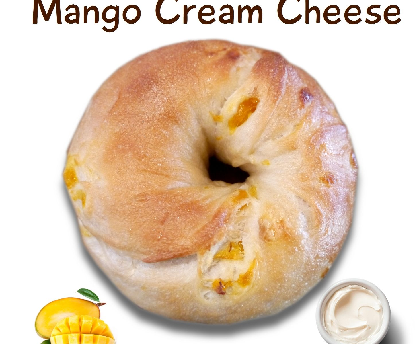 ベーグル: マンゴークリームチーズ