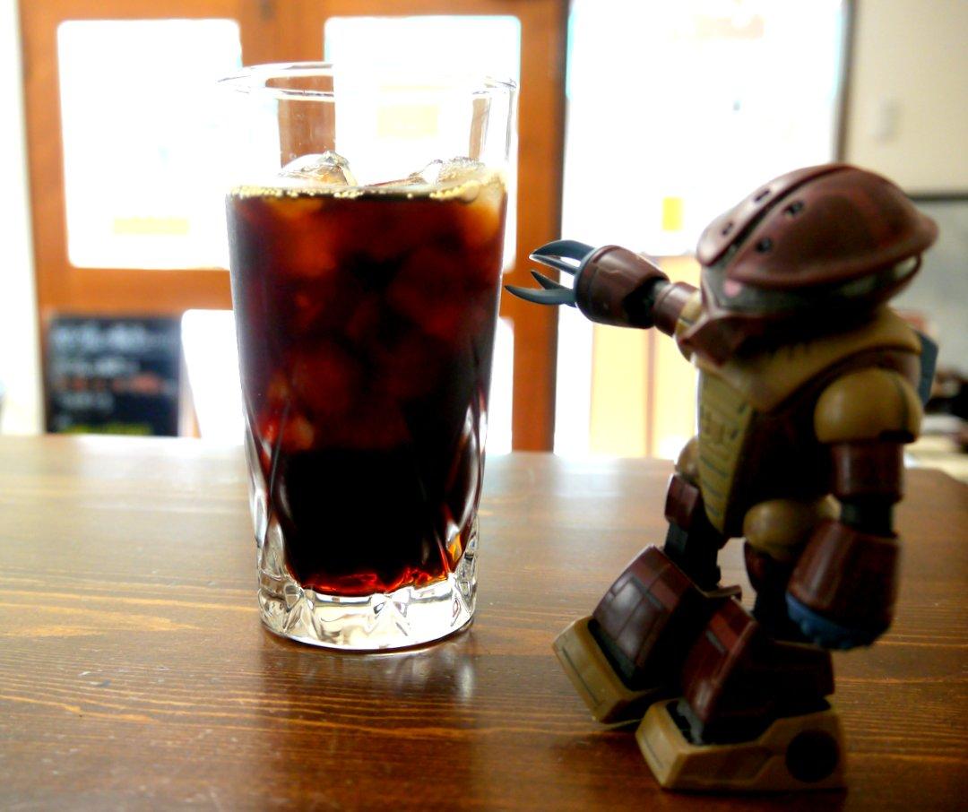 アッガイもオススメ。アイスコーヒーナップ。