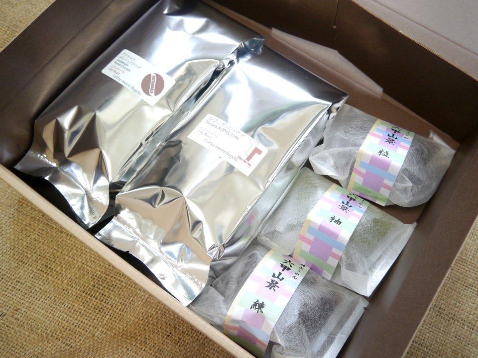 コーヒーと羊羹(春日野道 甘栄堂本舗さんの六甲山景)のギフトセット