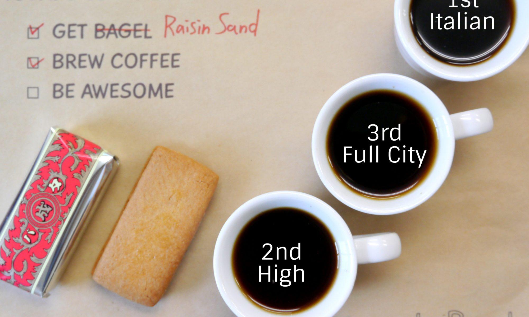 レーズンサンドとコーヒー