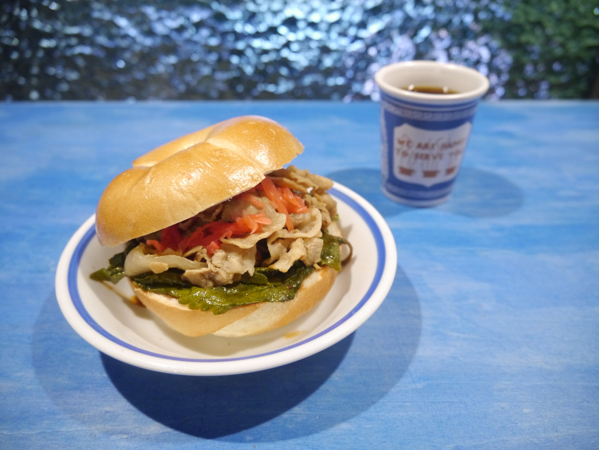 吉野屋 豚皿サンド (ケンニプキムチ添え)