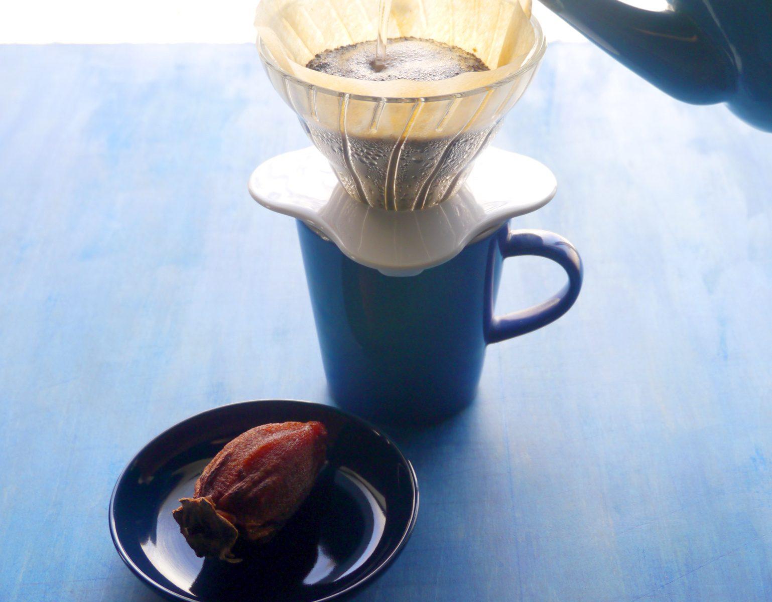 干し柿とハンドドリップコーヒー