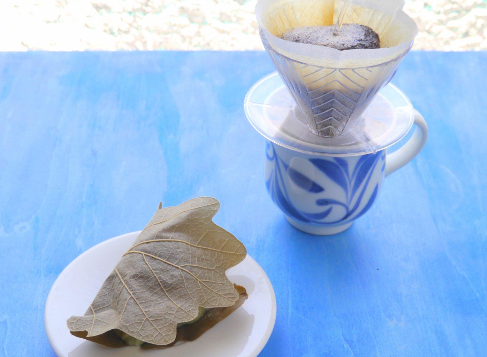 和菓子の日に柏餅
